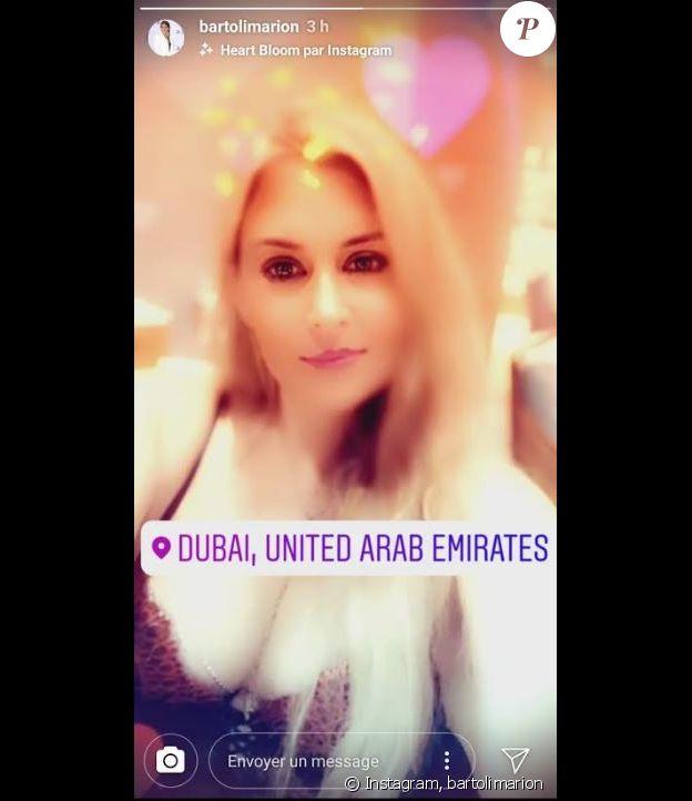 Marion Bartoli affiche un joli décolleté sur Instagram le 12 février 2019.