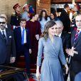 Le roi Felipe VI et la reine Letizia d'Espagne ont été accueillis le 13 février 2019 par le roi Mohammed VI et sa famille à Rabat au Maroc, où les cérémonies officielles de bienvenue ont eu lieu place du Mechouar au palais royal.