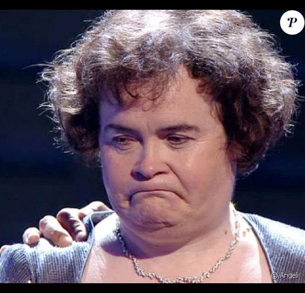 Susan Boyle dépitée après sa défaite...