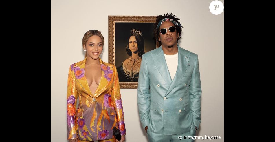 """Beyoncé et Jay-Z """"s'inclinent"""" devant Meghan Markl, le 20 février 2019."""