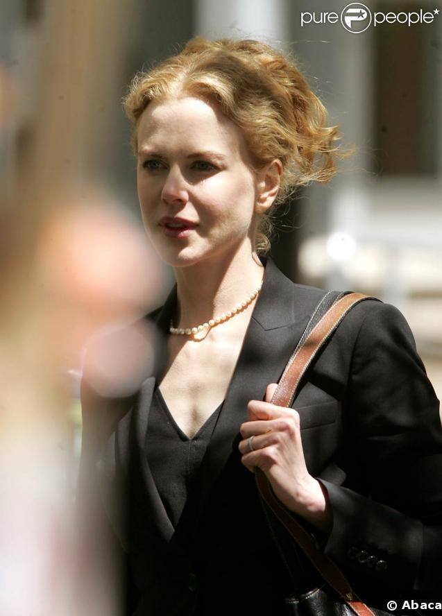 Nicole Kidman sur le tournage de Rabbit Whole, à New-York, hier