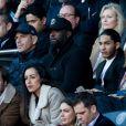 Medi Sadoun et Dylan Robert (César du meilleur espoir masculin 2019 pour le film Shéhérazade) lors du match de Ligue 1 entre le Paris Saint-Germain et Nîmes au Parc des Princes le 23 février 2019.