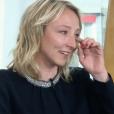 """Audrey Lamy émue par Loup-Denis Elion dans """"Entrée Libre"""" sur France 5. Le 25 février 2019."""