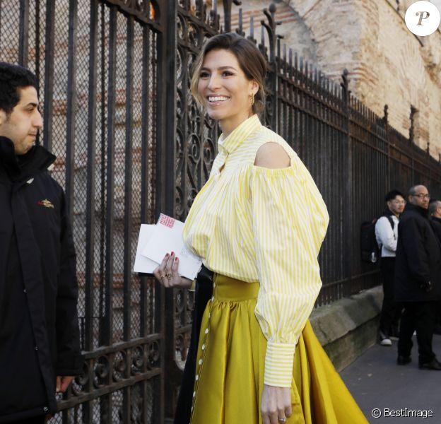 """Laury Thilleman - Arrivées au défilé de mode Prêt-à-Porter automne-hiver 2019/2020 """"Lanvin"""" à Paris. Le 27 février 2019 © Veeren-CVS / Bestimage"""