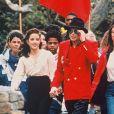 Michael Jackson et Lisa Marie Presley à Neverland en 1995.