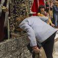 L'infante Elena d'Espagne s'est recueillie et a baisé les pieds du Christ de Medinaceli le vendredi 1er mars 2019, honorant une tradition ancestrale, en la basilique Nuestro Padre Jesús de Medinaceli à Madrid.