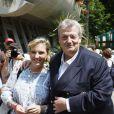 Guy Carlier et sa femme Joséphine à Roland Garros le 3 juin 2009
