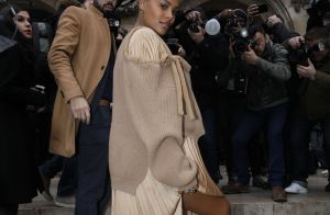 Fashion Week : Tina Kunakey, enceinte et en talons, rayonne !