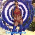 Joakim Noah félicite Lais Ribeiro pour sa participation au carnaval de Rio le 4 mars 2019.