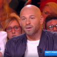 """Franck Gastambide fait de rares confidences sur son couple avec Sabrina Ouazani dans """"Touche pas à mon poste"""" (C8) le 5 mars 2019."""