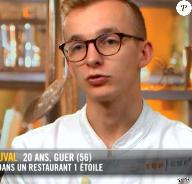 """Maël lors du troisième épisode de """"Top Chef"""" saison 10 mercredi 20 février 2019 sur M6."""