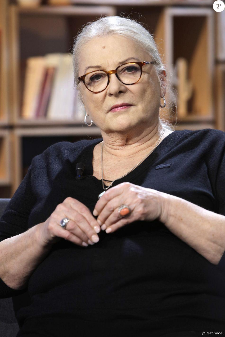 """Portrait de Josiane Balasko lors de l'émission """"La grande librairie"""" sur France 5 06/03/2019 - Paris"""