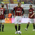 David Beckham avec ses co-équipiers du Milan AC