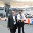 Le Tour 66 de Johnny Hallyday fait escale au Stade de France, fin mai 2009 : Jean-Claude Camus et Dinh Thien Ngo