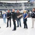 Le Tour 66 de Johnny Hallyday fait escale au Stade de France, fin mai 2009 : Jean-Claude Camus pendant les répétitions