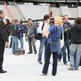 Le Tour 66 de Johnny Hallyday fait escale au Stade de France, fin mai 2009 : Jean-Claude Camus en répétitions