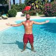 Julien Bert à la piscine - Instagram, 3 septembre 2018