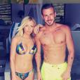 """Julien Bert et Stéphanie Clerbois sur le tournage de """"La Villa 3"""" - Instagram, 3 janvier 2018"""