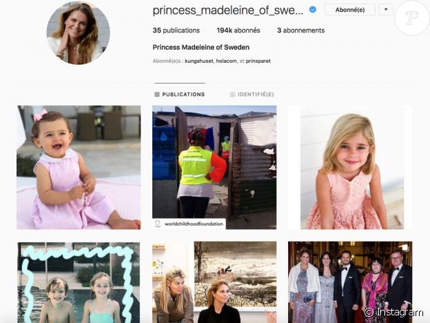 La princesse Madeleine de Suède a fêté le 9 mars 2019 sur Instagram le 1er anniversaire de sa fille la princesse Adrienne, quelques jours après les 5 ans de la princesse Leonore. Dans les deux cas, une photo à l'ambiance floridienne... Capture d'écran Instagram.