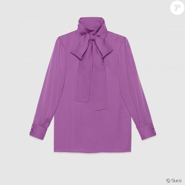 La blouse en soie Gucci de Kate Middleton, en vente sur le site de la marque au prix de 890 euros.