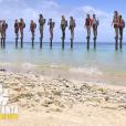 """Les candidats sur les poteaux lors du premier épisode de """"Koh-Lanta, la guerre des chefs"""" (TF1) vendredi 15 mars 2019."""