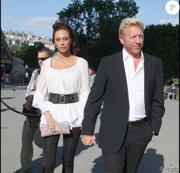 Boris Becker et sa fiancée Lily, à Paris