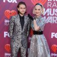 "Katy Perry, Zedd au photocall des ""2019 iHeart Radio Music Awards"" au Microsoft Theatre à Los Angeles, le 14 mars 2019."