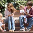 Brooke Burke, David Charvet et leurs deux enfants Shaya et Heaven Rain