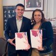 Le footballeur Thiago Silva et son épouse, Belle Silva, ont obtenu la nationalité française. Mars 2019.
