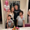 Thiago Silva, Bella Silva et leurs enfants Isago et Iago. Mars 2019.