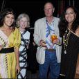 Margherita Missoni, Angela Nauman, Bruce Nauman et Angela Missoni à la soirée organisée par la famille Missoni en l'honneur de l'artiste Bruce Nauman, hier à la 53ème Biennale de Venise