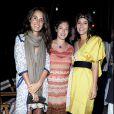 Coco Brandolini, Ginevra Elkann et Margherita Missoni à la soirée organisée par la famille Missoni en l'honneur de l'artiste Bruce Nauman, hier à la 53ème Biennale de Venise