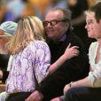 Drew Barrymore dans les bras de Jack Nicholson