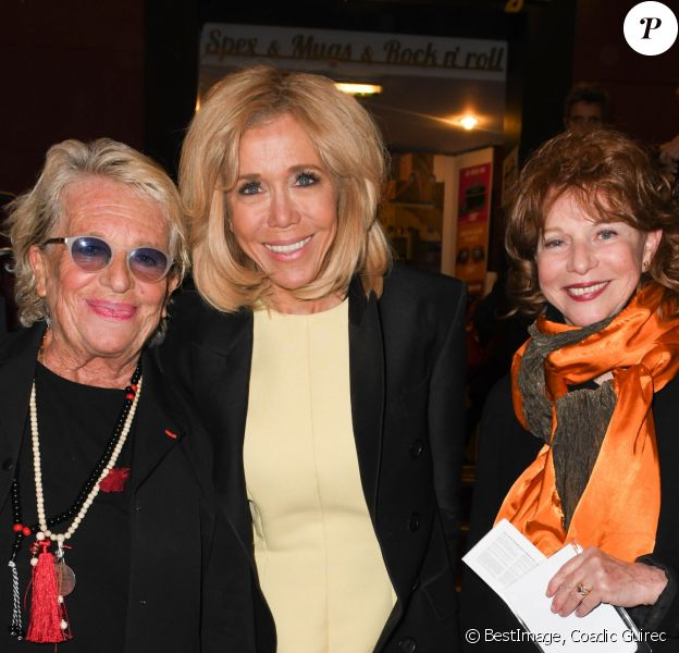 Véronique de Villèle, Brigitte Macron et Agathe Natanson - Arrivées et backstage du 14ème Gala de la Fondation pour la recherche sur Alzheimer à l' Olympia à Paris le 18 mars 2019. © Coadic Guirec/Bestimage