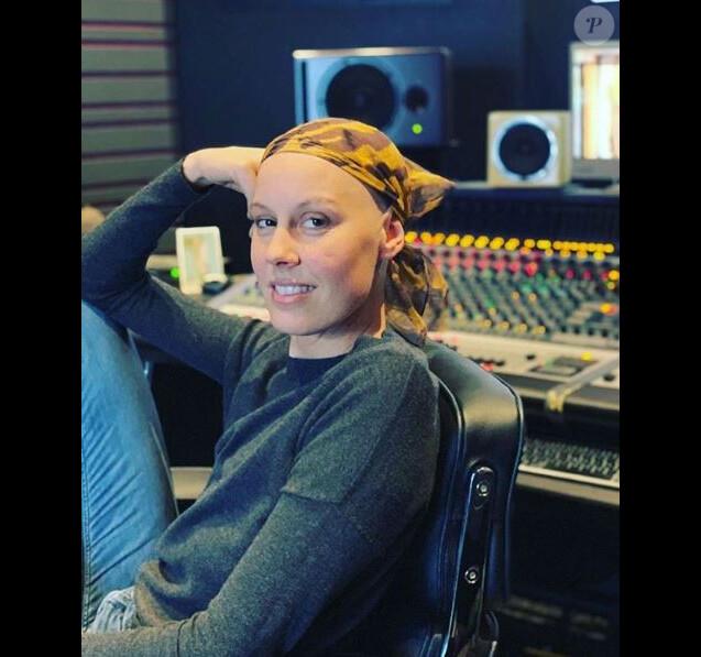 Fanny Leeb en studio. Instagram, février 2019