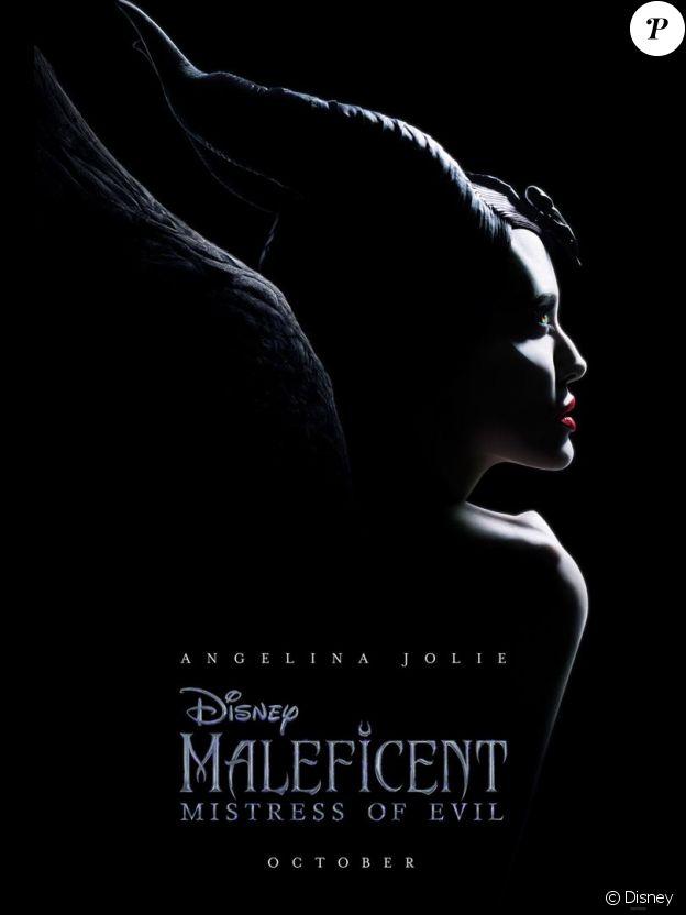 Affiche teaser de Maléfique 2 avec Angelina Jolie, en salles le 16 octobre 2019