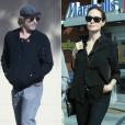 Brad Pitt (le 23 janvier 2019) et Angelina Jolie (26 janvier 2019) à Los Angeles - hotomontage