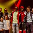 Adil Rami, les joueurs du Losc Mike Maignan, Adama Soumaoro et Rio Mavuba à Lille, le 19 mars 2019.