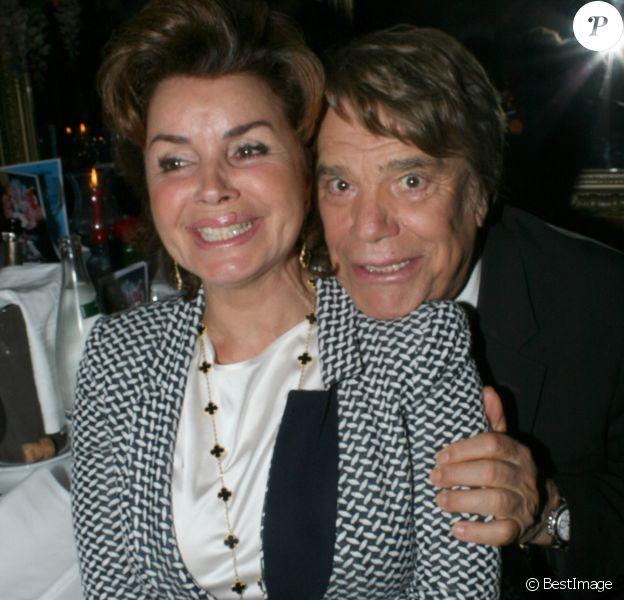 Bernard Tapie et sa femme Dominique - Michou fête ses 85 ans et les 60 ans de son cabaret à Paris le 20 juin 2016.