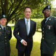 Tom Hanks lors de la cérémonie en hommage à ceux qui sont morts pour la France. Cimetière de Colleville-sur-mer, le 6 juin.