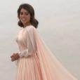 Eugenie d'York lors de ses essayages pour sa seconde robe de mariée signée Zac Posen. Son mariage avec Jack Brooksbank a été célébré à Windsor le 12 octobre 2018.