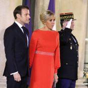 Brigitte Macron : Exceptionnelle en rouge pour un dîner très prestigieux