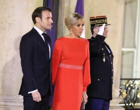 Le président de la République Emmanuel Macron et sa femme Brigitte Macron reçoivent le président de la République populaire de Chine XI Jinping et sa femme femme Peng Liyuan au palais de l'Elysée pour un dîner d'état, Paris, le 25 mars 2019. ©Dominique Jacovides / Bestimage