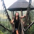 """La très jolie Ninon Dechavanne en Afrique du Sud pendant que son père Christophe Dechavanne tournait la 2e saison de """"Je suis une célébrité, sortez-moi de là"""" (TF1)."""