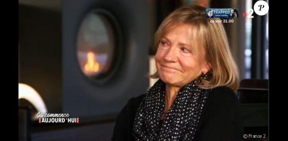 Fabienne, la mère de Julie Bocquet, fille cachée de Claude François interrogée par Ça commence aujourd'hui, le 25 mars 2019