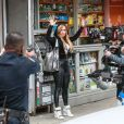 Jennifer Lopez sur le tournage de Hustlers à New York, le 29 mars 2019.