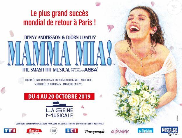 Affiche du spectacle Mamma Mia! à La Seine Musicale du 4 au 20 octobre 2019