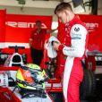 Mick Schumacher (Prema Racing) lors des essais du Grand Prix F2 de Bahreïn 2019 sur le circuit de Sakhir, à Bahreïn, le 30 mars 2019.