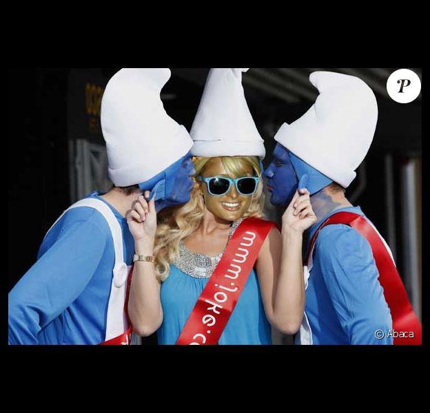 Paris Hilton et ses amis les Schtroumpfs