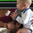 Enrique Iglesias et l'un de ses bébés - Instagram, 16 juin 2018